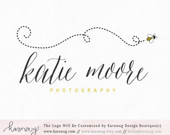 Bee Logo Photography Logo Boutique Logo Premade Logo Watermark Logo Business Logo Branding Logo Custom Logo Logos and Watermarks