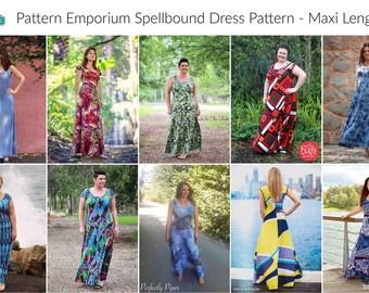 PATTERN Ladies Spellbound Stretch Knit Dress - PDF Sewing Pattern - Instant Download - Pattern Emporium