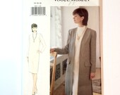 Vogue 9097, Women's Jacket, Dress Pattern, Sheath Dress, The Vogue Woman, Very Easy Vogue, Size 14, 16, 18, Vintage Uncut Pattern