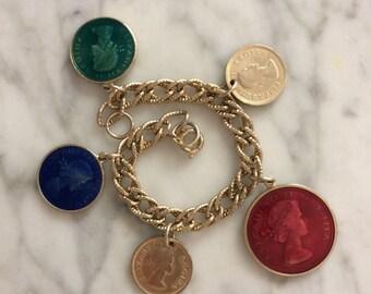 Queen Elizabeth II Charm Bracelet
