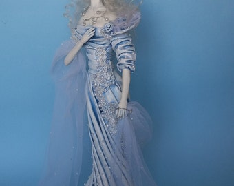 "Ooak Pure Sculpt doll ""The Snow Queen""  gift idea"
