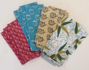 Set of 4 Indian Block Printed Napkins