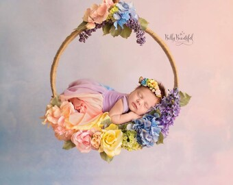 Mini Esperanza Floral Crown {Pastel} • Rainbow Baby • Newborn Rainbow Crown • Hope Floral Crown • Bohemian Crown | READY TO SHIP
