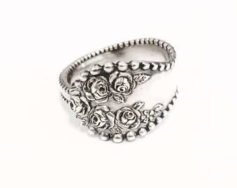 Vintage Sterling Silver Spoon Ring - Authentic Handmade Spoon Rings
