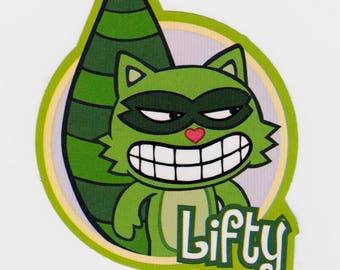 Happy Tree Friends LIFTY Sticker - Licensed HTF Lifty the Raccoon Stickers, Mondo Media, Deadeye Derby, Cuddly and Horribly Wrong