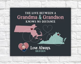 Gift for Grandma from Grandson or Granddaughter, Cute Gift from Grandkids to Grandmother, Mom Gifts, Mother's Day, Birthday Nana | WF583