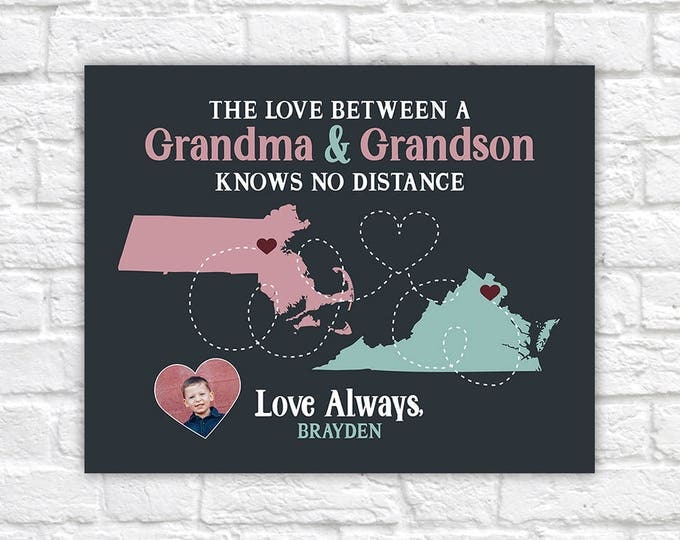 Featured listing image: Gift for Grandma from Grandson or Granddaughter, Cute Gift from Grandkids to Grandmother, Mom Gifts, Mother's Day, Birthday Nana | WF583