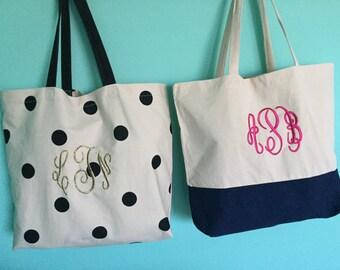 Monogrammed Reusable Shopping Bag