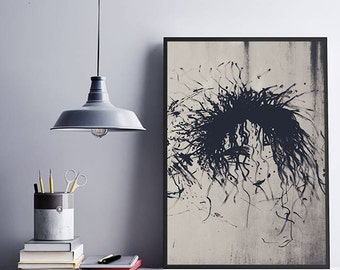 Edward Scissorhands Drawing Graffiti Art Black and White Fine Art Photography Abstract Street Art Urban Photo Modern Art Teenager Room Art