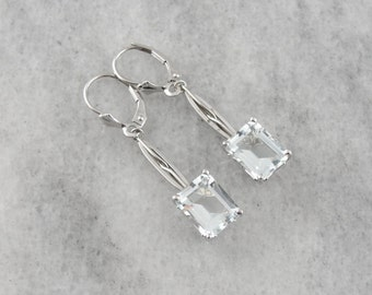 White Topaz Drop Earrings 3V9EDX-R