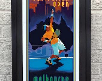 Australian Open tennis sports art poster print