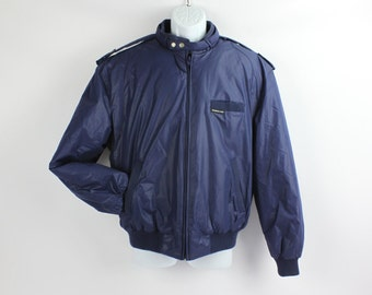 Vintage LARGE Navy Blue Puffy Members Only Jacket