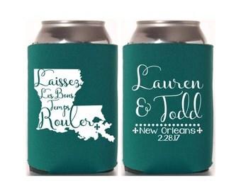 Louisiana Wedding, New Orleans Wedding, Mardi Gras Party, Mardi Gras Favor, Wedding Favor, Masquerade Wedding, NOLA Wedding, Can Cooler