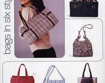 Six Bags, Purses, Totes - sewing pattern, New Look 6365 - versatile classics, various trims, closures, shapes
