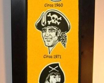 Pittsburgh Pirates Heritage Team Banner....Framed