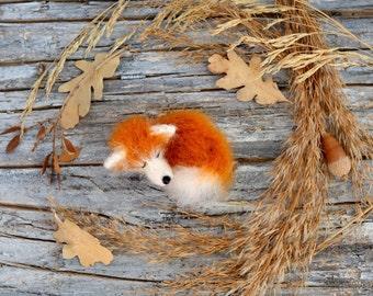 Fox doll brooch pin gift for her home decor woodland fox sculpture fox handmade animal lover gift cute plush kawaii fox stuffed animal