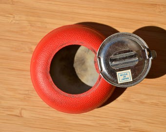 Small Red Personal Ashtray / 1960s Mid-century Modern / Great condition