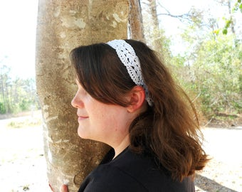 Summer Lace Headband for Woman or Teen - Fashion Headband - Bridal Party Accessory - Headband Gift for Her - Easter Headband for Women