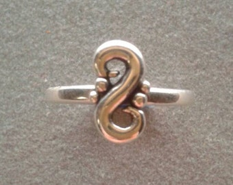 Sterling Silver Swirl Stack Ring