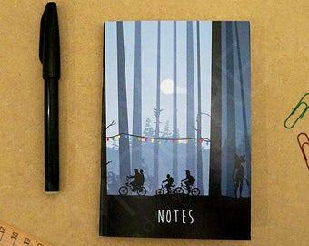 Stranger Things A6 Notebook, Movie Stationary, Pocket Notebook, Stationary