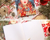 Large notebook lined pages color photography Olga Valeska format A4, Russian folklore style / matryoshka / folk / fairy,