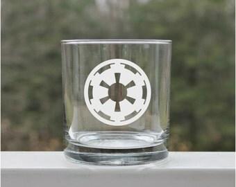 star wars, etched whiskey glass, Star wars empire, whiskey glasses, whiskey glass, scotch glass, Cocktail Glasses, jedi glass, starwars