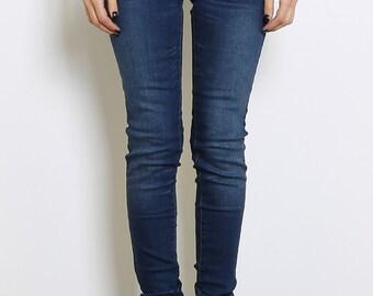 Washed Blue Denim Jeans.
