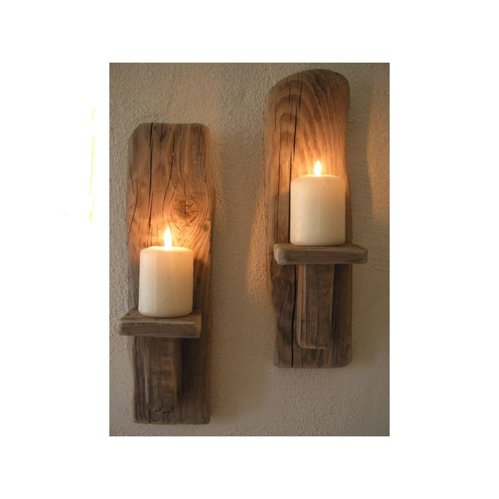 Wall Sconces Driftwood : 2 Irish Driftwood Wall Sconces Candles sconces handcrafted
