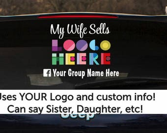 Custom car decal,  My Wife Sells, Custom retailer decal, business cards, RockingJay, Rocking Jay