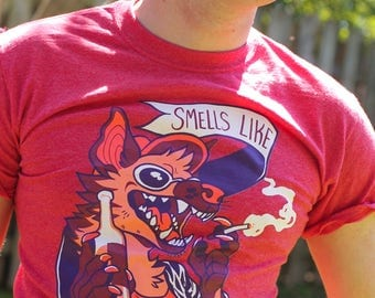 "CLEARANCE Red Heather ""Smells Like Yeen Spirit"" Tee Shirt"