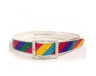 Givenchy multi colour leather plastic belt