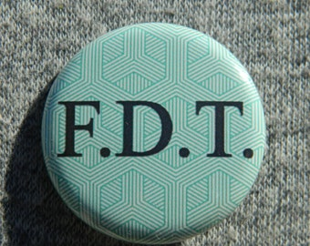 FDT - Not my president Button/Magnet/Bottle Opener Donald Trump