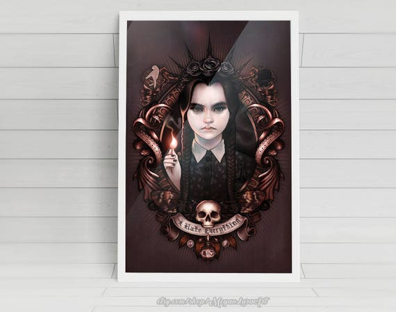 """I Hate Everything - Wednesday Addams of"""" The Addams Family"""" 11x17 signed poster print"""
