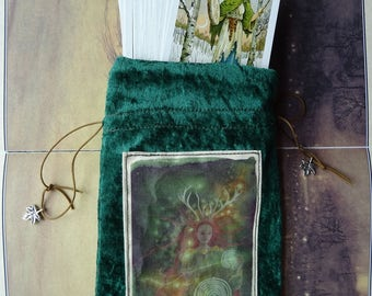 Path Weaver Tarot Card Bag/Tarot pouch/Elen of the Ways/Reindeer Goddess/Labyrinth/Goddess/Celtic/Deer