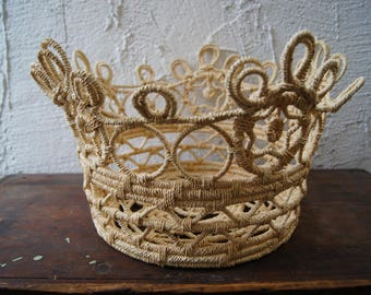 Lacy Hand Woven Indonesian Basket