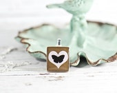 Solitary Butterfly Charm Necklaces, Gift Ideas for Her, Recycled Jewelry, Scrabble Tile Pendant, Little Girls Jewelry, Nature Inspired Gift