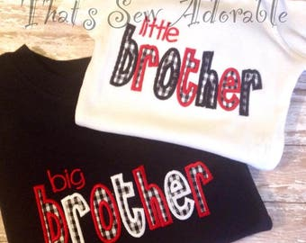 Big Brother and Little Brother Shirts-Customizable