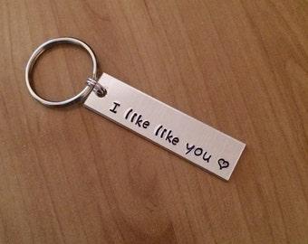I like like you keychain - Valentine's gift - boyfriend gift - girlfriend gift
