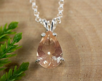 Oregon Sunstone Sterling Silver Pendant