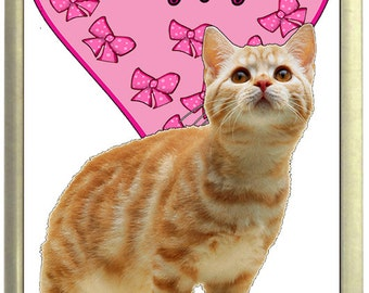 I Love My Ginger Cat Fridge Magnet 7cm by 4.5cm,