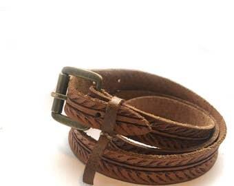 Tooled Tiana skinny belt