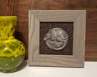 Unique Sculpted and Framed Animal Dials (Armadillo)