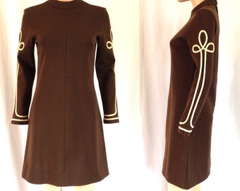1960's Bleeker Street Mod Wool Dress Sz. M