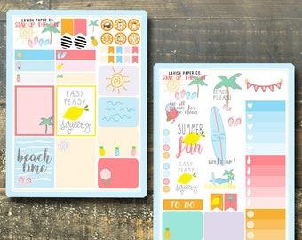 Soak Up The Sun Summer Kit Planner Sticker by Lavish Paper Co. | for Erin Condren, Mormon Mom Planner, inkWELL Press, Happy Planner & More!