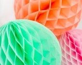 Peach Honeycomb Ball | 12 inch or 14 inch