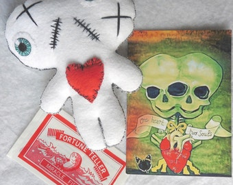 One Heart, Two Souls Conjoined Twins Mummy Kit WHITE - Siamese, Circus, Freak, Freak Show, Love, Valentine, Wedding, Voodoo Doll, Twins, AHS