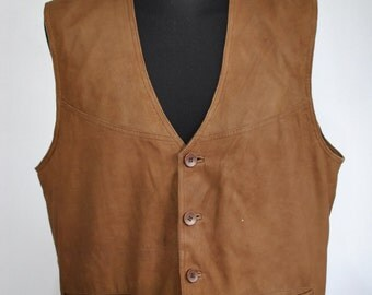Vintage LEATHER VEST , men's leather vest......(040)