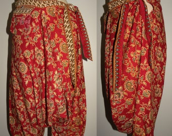 Vintage Harem Pants  / Festival / Tribal / Bohemian / Folk / Dropped Crotch / Small to Medium