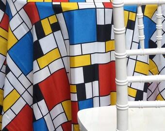 Mondrian Print (Original Red) - Ideal for Events, Parties & Home Decor