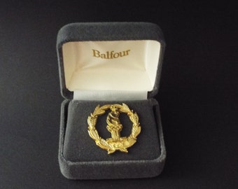 1996 Atlanta Olympics Pin Gold Wreath In Sterling Silver Balfour 2861/5000